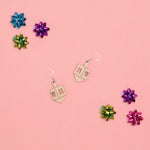 Dreidel Hanukkah Earrings