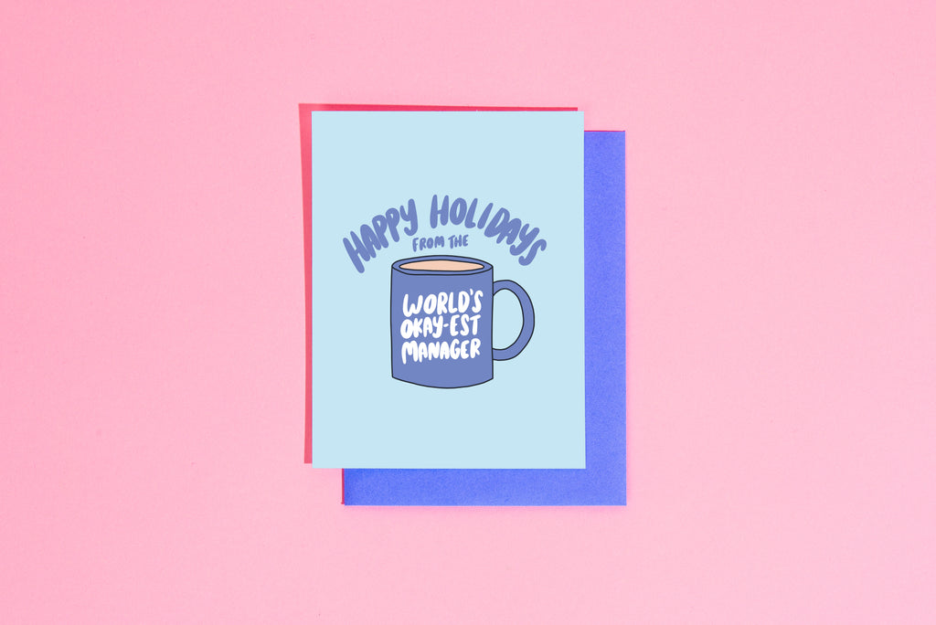 Happy holidays from the world's okay-est manager card - Craft Boner