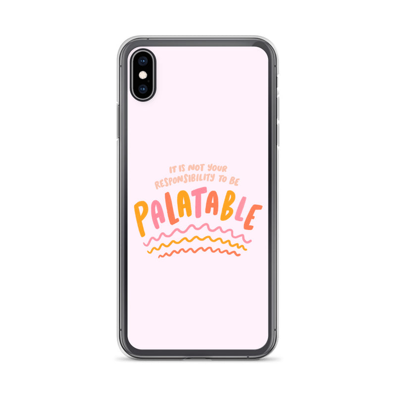 Responsibility to be palatable iPhone Case - Craft Boner