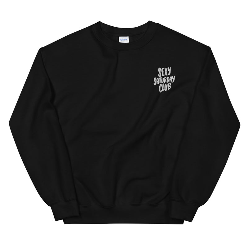 Sexy Saturday Club Embroidered Sweatshirt