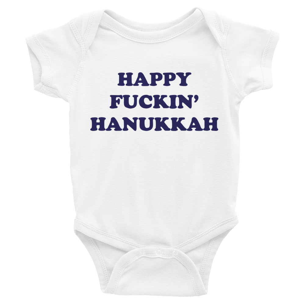 Happy fuckin' Hanukkah onesie - Craft Boner