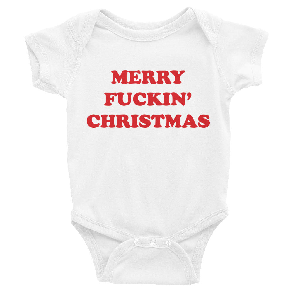 Merry fuckin' Christmas baby onesie - Craft Boner
