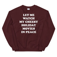 Holiday movies in peace sweatshirt
