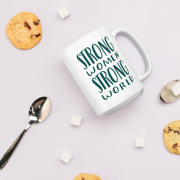Strong women, strong world jumbo mug - Craft Boner