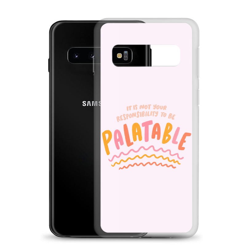 Responsibility to be palatable Samsung case - Craft Boner