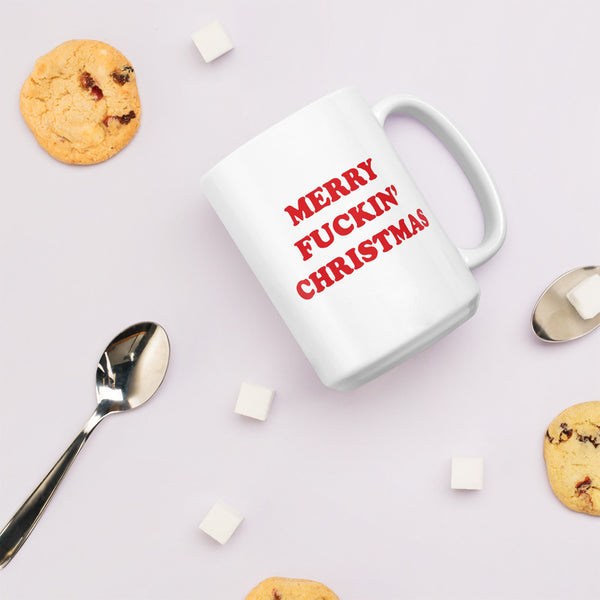 Merry fuckin' Christmas jumbo mug - Craft Boner
