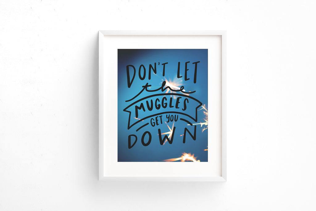 Don't let the muggles get you down print - Craft Boner