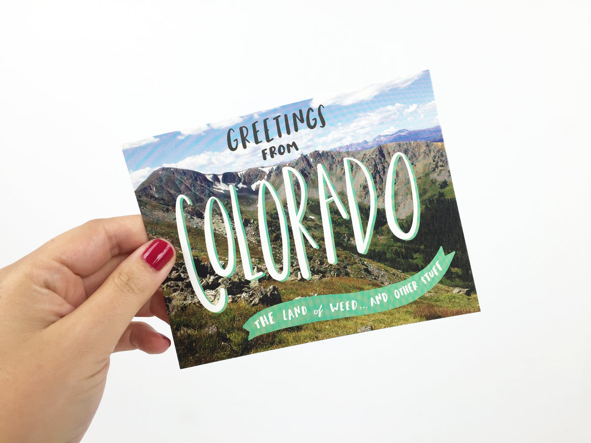 Greetings from Colorado postcard - Craft Boner