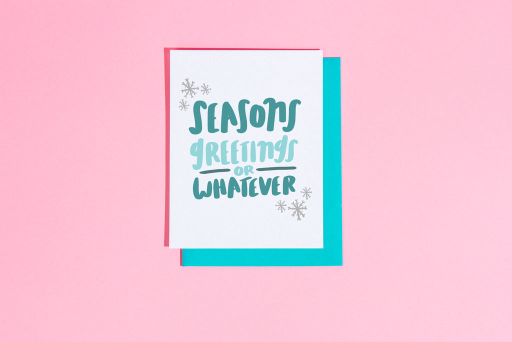 Seasons greeting or whatever card - Craft Boner