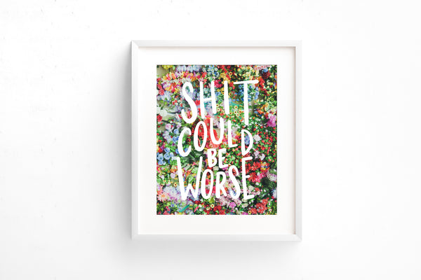 Shit could be worse art print