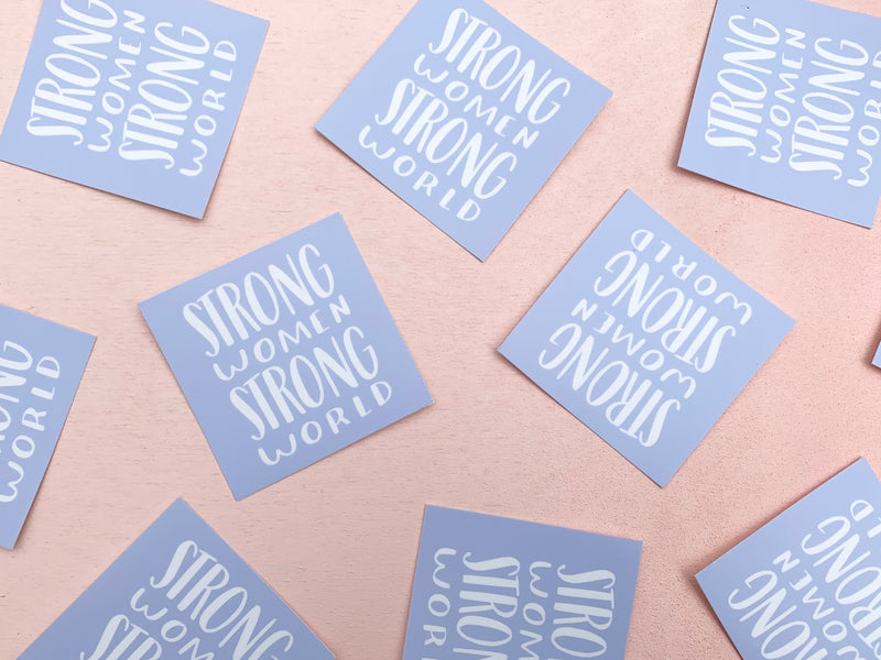 Strong women strong world sticker - Craft Boner