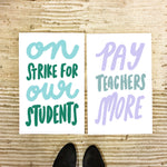 FREE 11x17 printable teacher protest signs - Craft Boner