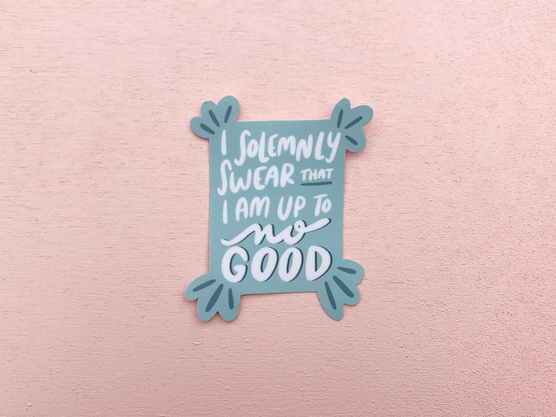 Solemnly swear I am up to no good sticker - Craft Boner