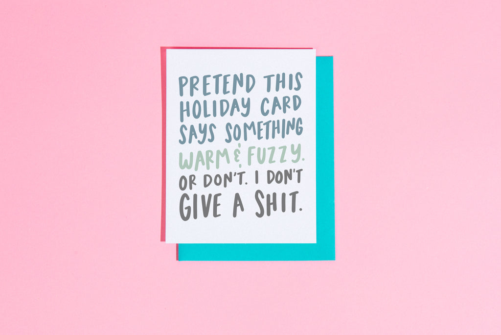 Pretend this holiday card says something warm and fuzzy... card - Craft Boner