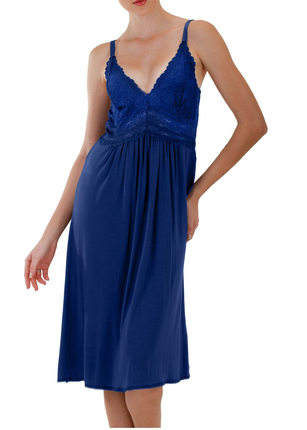 Bliss Nightgown - Marine Blue Mystique Intimates