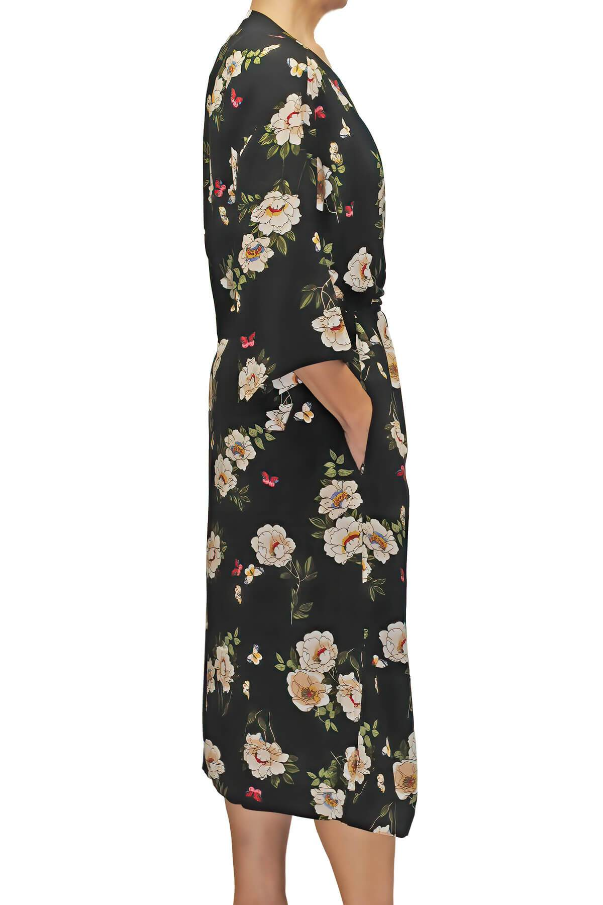 Long Flower Print Robe Mystique Intimates
