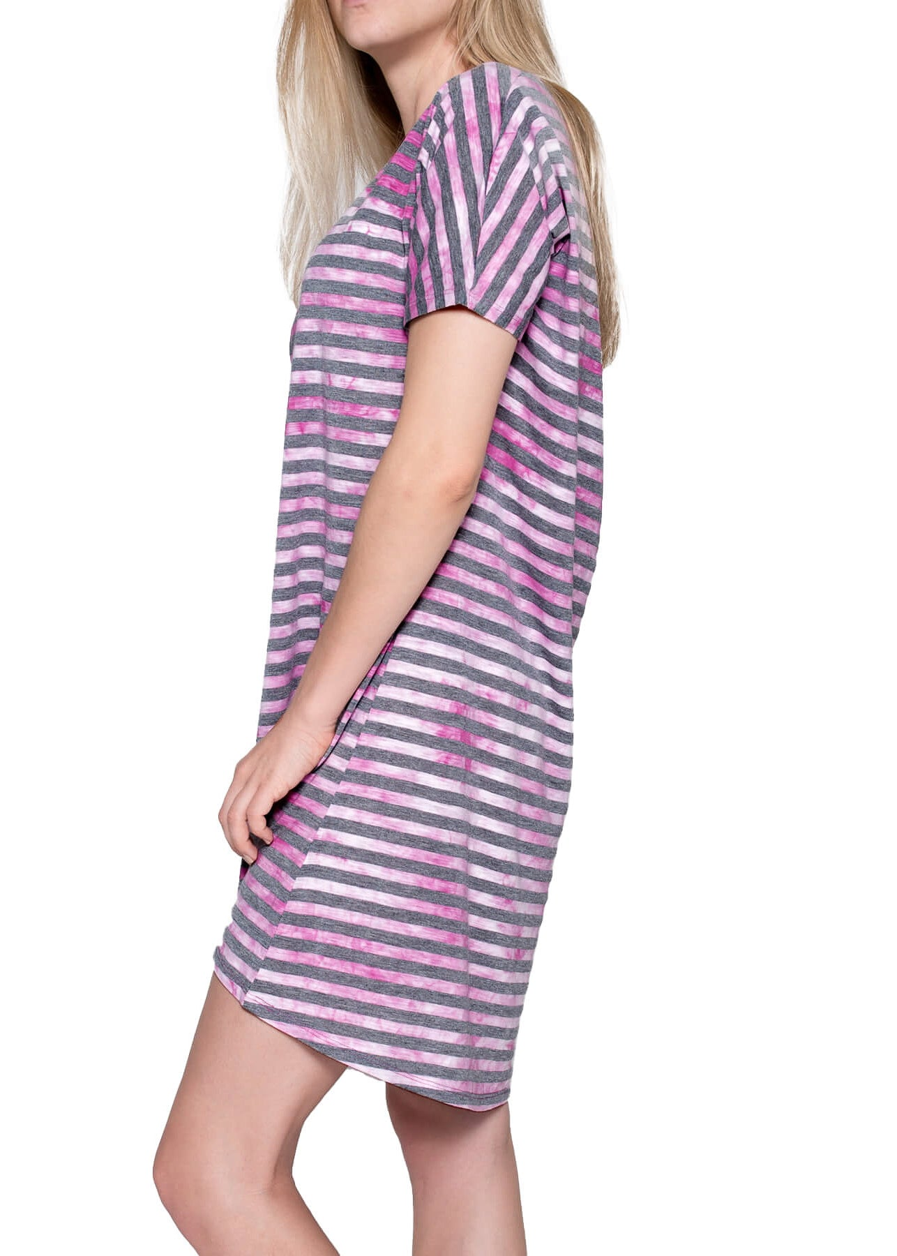 Artire Stripe Nightshirt - Rose