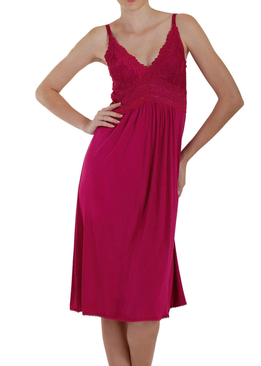 Bliss Knit Nightgown - Berry Mystique Intimates