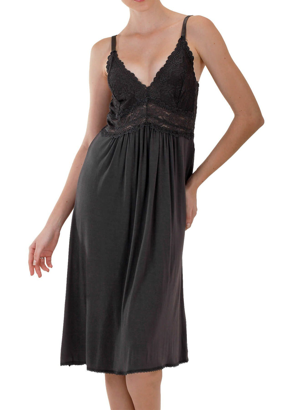Bliss Knit Nightgown - Black Mystique Intimates
