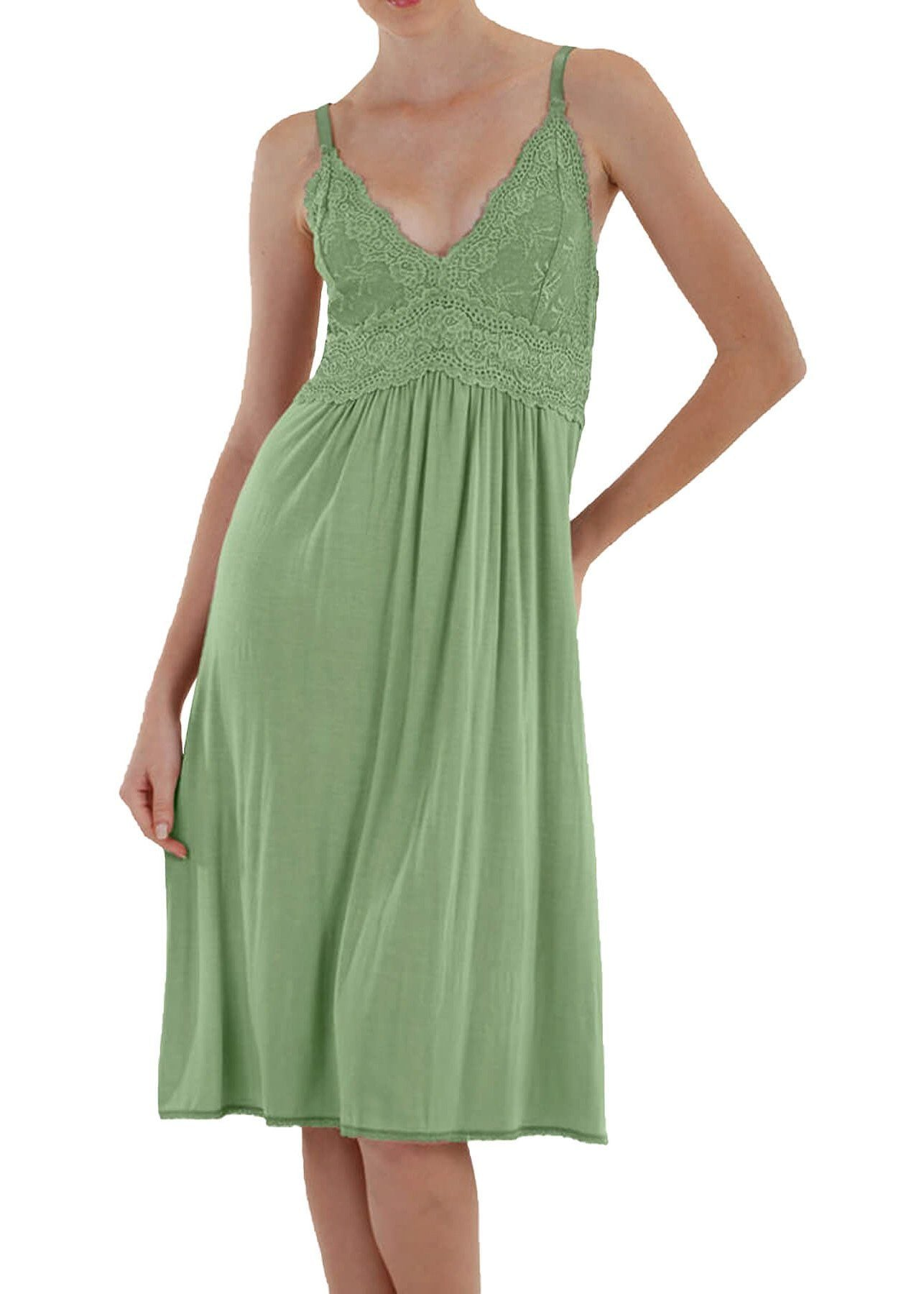 Bliss Knit Nightgown - Celery Mystique Intimates