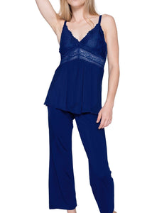 Bliss Pajama Set - Marine Blue Mystique Intimates