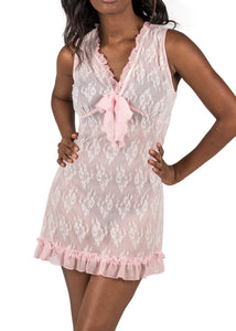 Chantilly Short Nightgown - Ice Pink Mystique Intimates