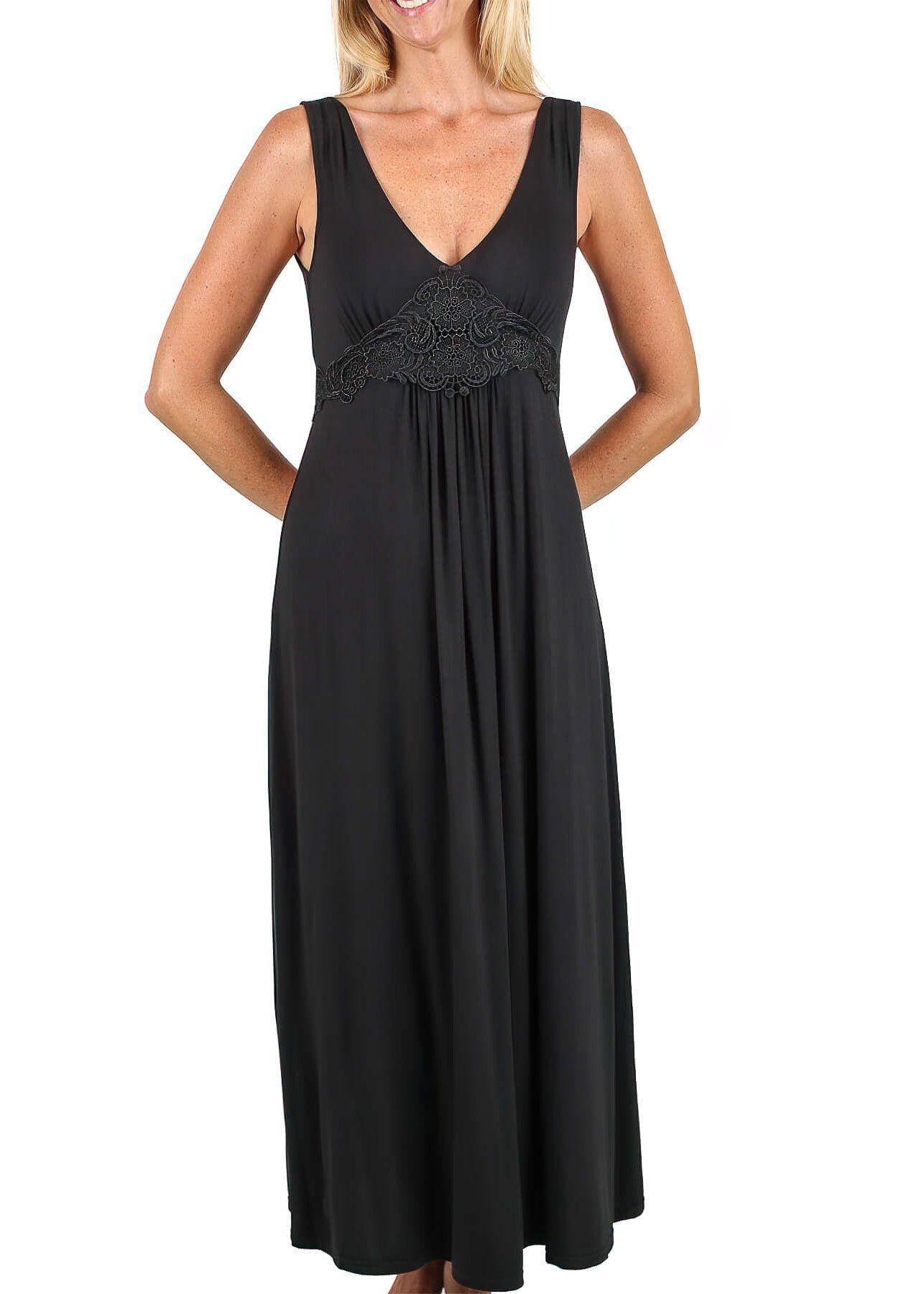 Dreamy Nightgown - Black Mystique Intimates