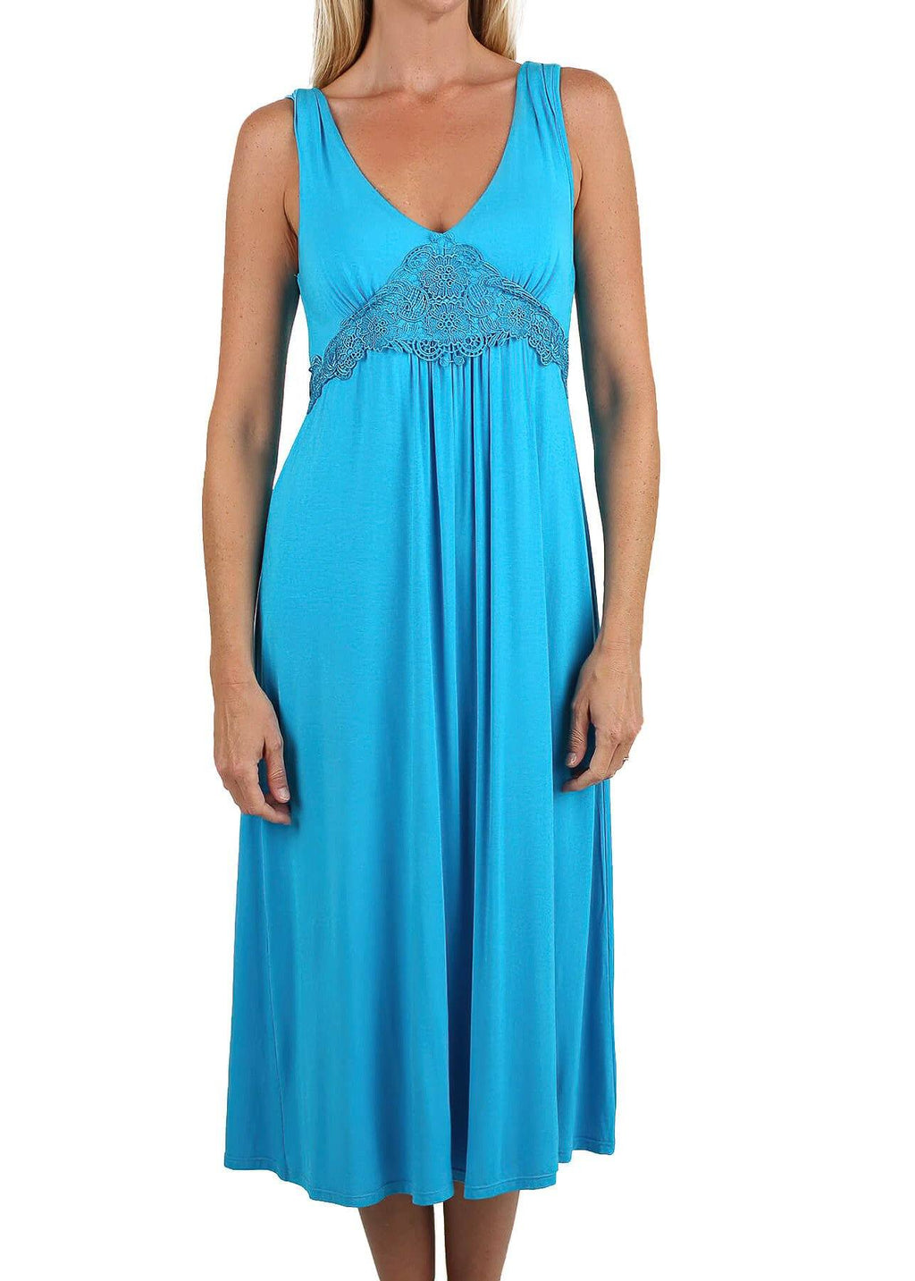 Dreamy Nightgown - Capri Blue Mystique Intimates