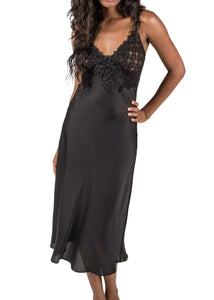 Enchanting Nightgown - Black Mystique Intimates