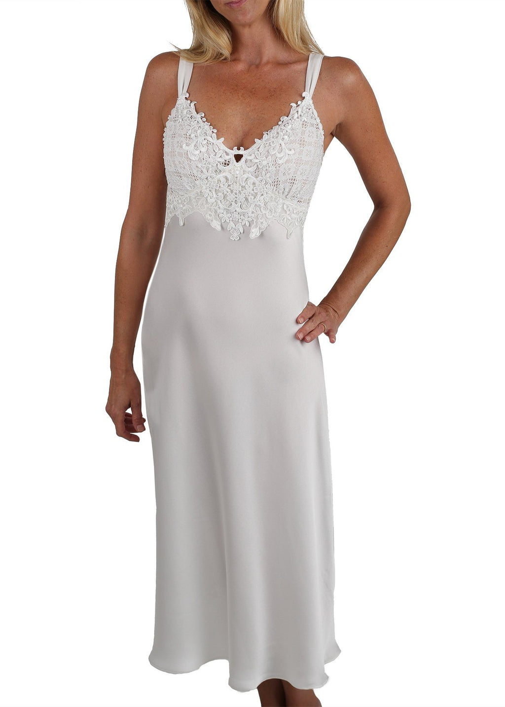 Enchanting Nightgown - Pearl White Mystique Intimates