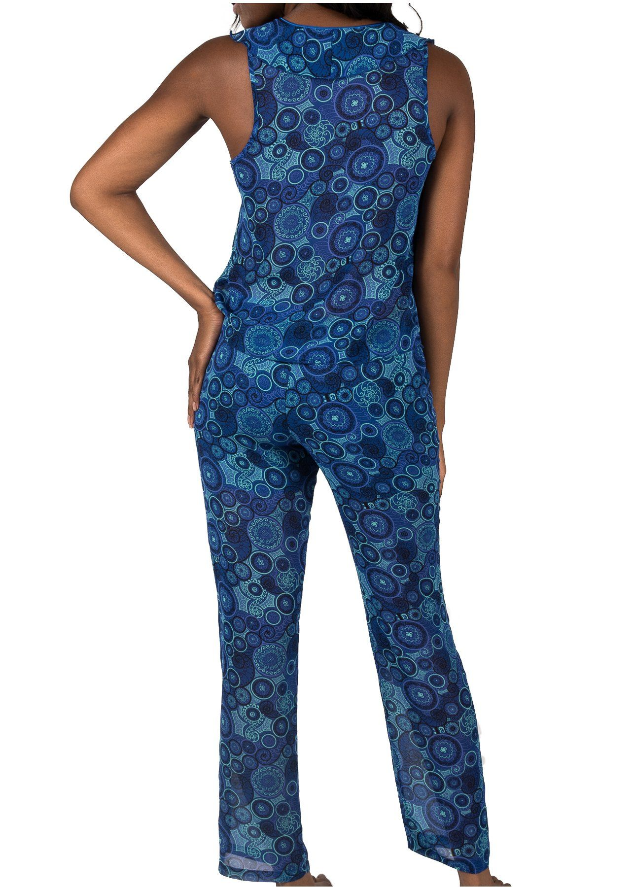 Kali Print Pajama #25776 Back View