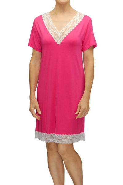 The Lily Sleepshirt in Cerise #25601