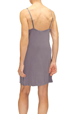 Madison Slip Chemise - Iris Gray Mystique Intimates