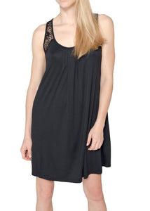 Olivia Short Nightgown - Black Mystique Intimates