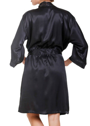 Raeanna Short Black Robe Mystique Intimates
