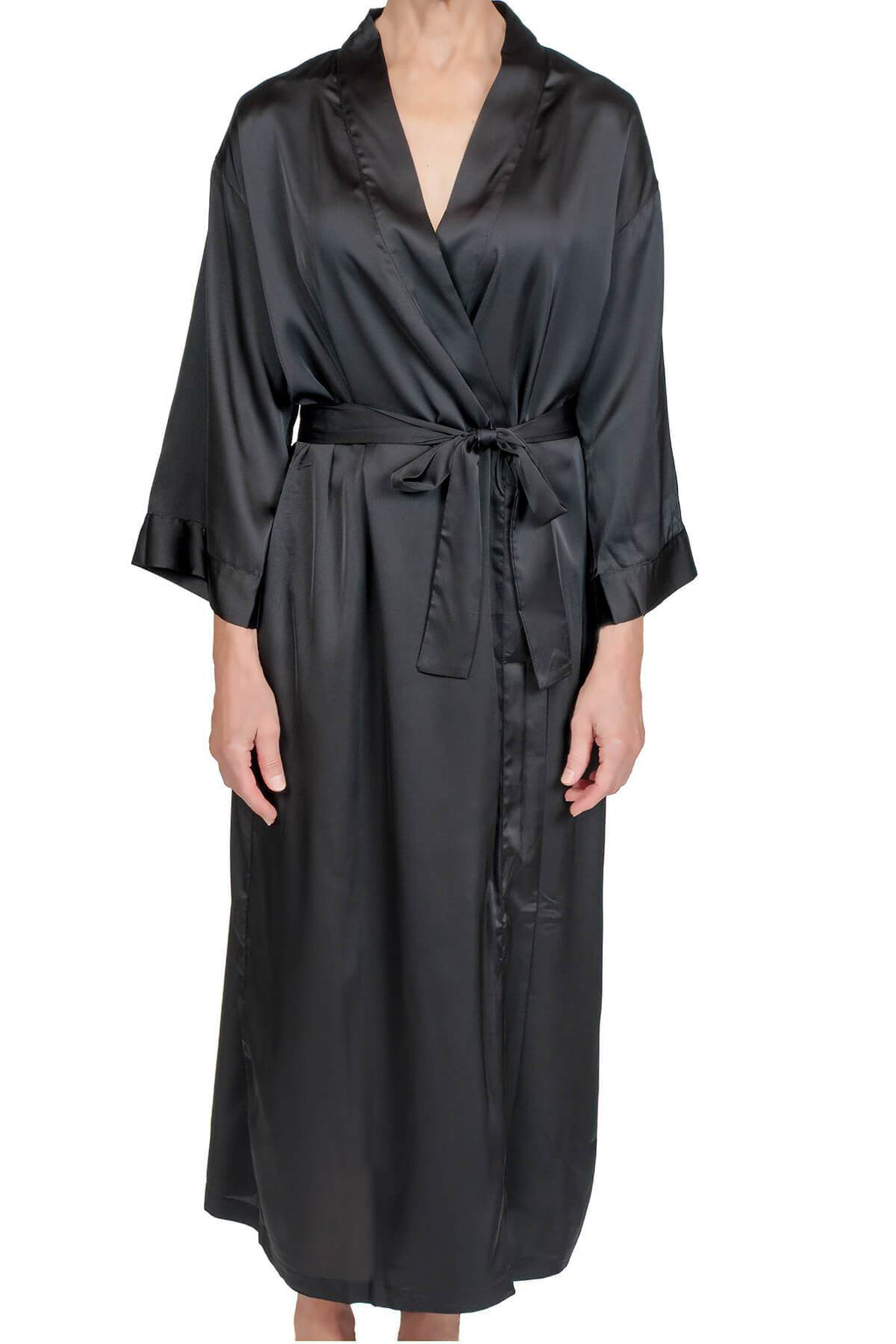 Raeanna Long Black Robe Mystique Intimates