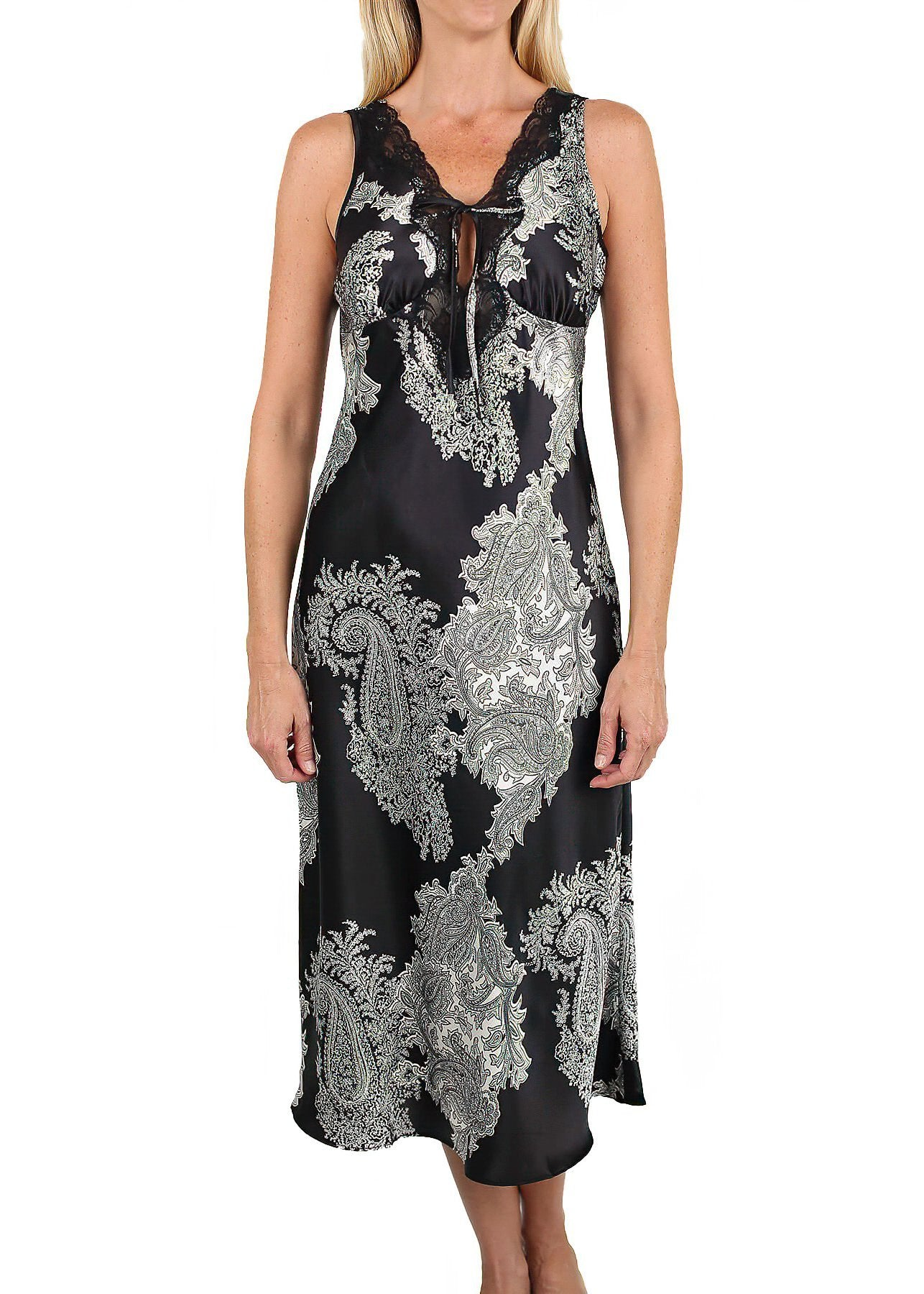 Raeanna Black Print Nightgown #30595