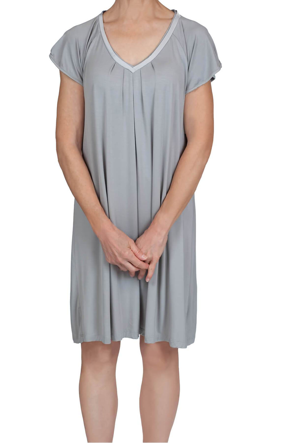 Sydney Knit Nightshirt - Dove Gray Mystique Intimates