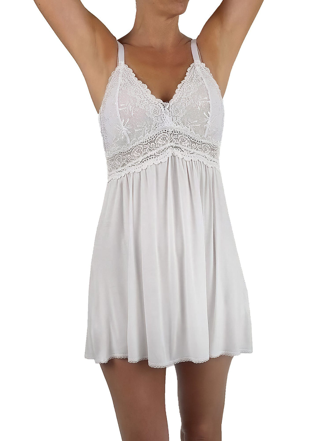 White Knit Chemise Nightgown Mystique Intimates