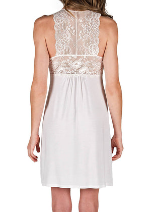 Catarina Knit Chemise Nightgown - White Mystique Intimates