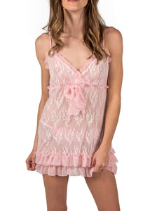 Chantilly Babydoll - Ice Pink Mystique Intimates