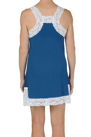 Lily Knit Chemise - Cadet Blue Mystique Intimates