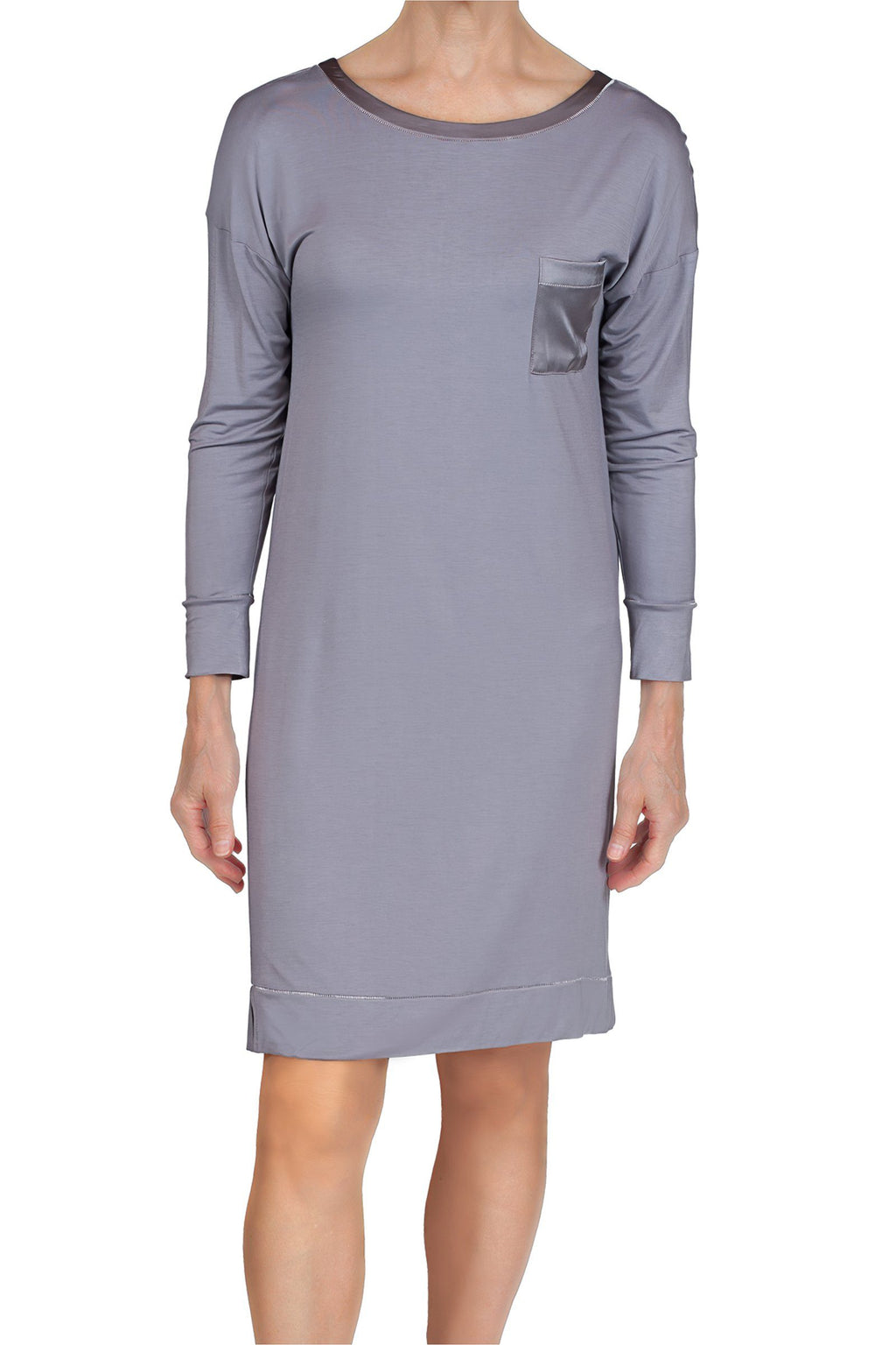 Madison Bamboo Knit Sleepshirt - Iris Gray Mystique Intimates