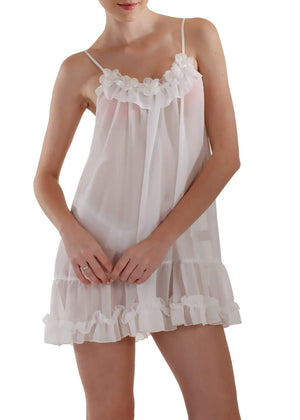 Sophie Sheer Babydoll - White Mystique Intimates