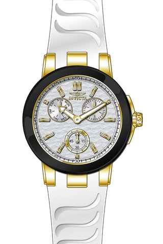 Invicta Women's 22205 Ceramics Quartz Chronograph Silver Dial Watch