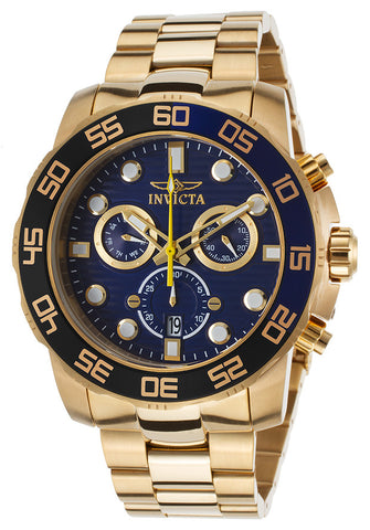 Invicta Men's 21555 Pro Diver Quartz Chronograph Blue Dial Watch