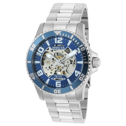 Invicta Men's Objet D Art Steel Bracelet & Case Automatic Blue Dial Analog Watch 22603