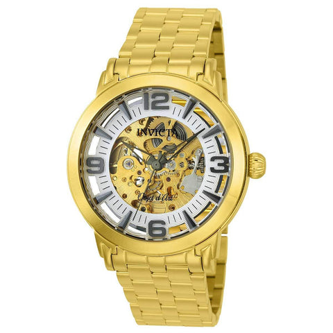 Invicta Men's 22599 Objet D Art Automatic 3 Hand Silver Dial Watch