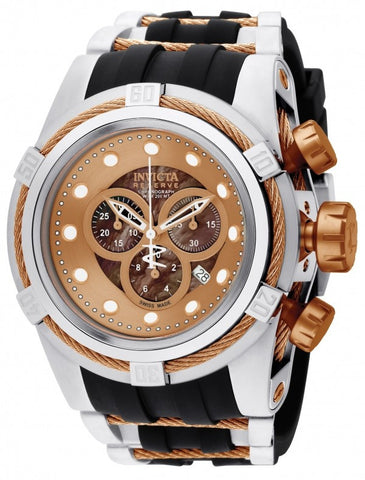 Invicta Men's 0829 Bolt Quartz Chronograph Brown Dial Watch