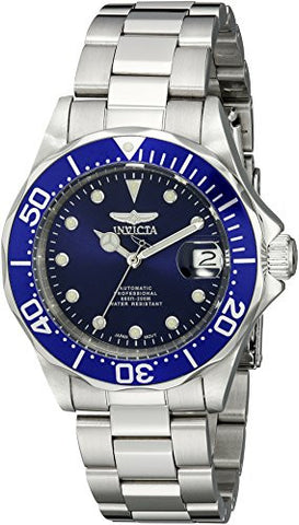Invicta Men's 17040 Pro Diver Automatic 3 Hand Blue Dial Watch